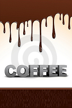Coffee Text With Dripping Chocolate Royalty Free Stock Photos - Image: 16509158