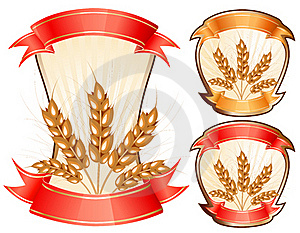 Vector Ears Of Wheat. Stock Photo - Image: 16509430