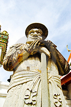 Ancient Lord Stone Statue In Thailand Stock Photography - Image: 16510292