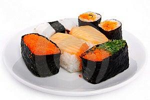 Japanese Sushi Traditional Food Stock Images - Image: 16510604