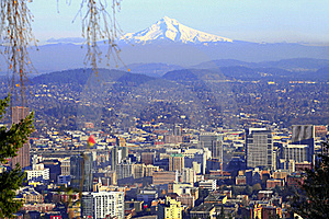 Mt. Hood & Portland Panorama. Royalty Free Stock Photography - Image: 16510957