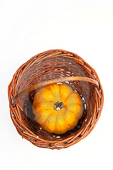 Pumpkin On The Basket Royalty Free Stock Photography - Image: 16515197