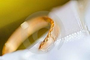 Wedding Ring On A Satiny Fabric (macro) Royalty Free Stock Images - Image: 16515949