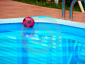 Ball Is Floating In Swimming Pool Stock Photography - Image: 16517442