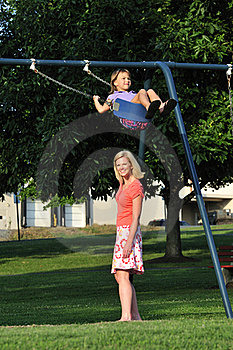 Swinging In The Park Royalty Free Stock Image - Image: 16520336