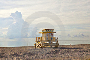Wooden Art Deco Baywatch Huts At The L Beach Stock Photo - Image: 16522580