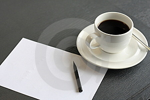 Coffee And Notepaper Stock Photos - Image: 16523163