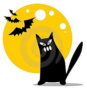 Halloween Black Cat Royalty Free Stock Photography - Image: 16525127