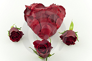 Red Rose Petal Heart Royalty Free Stock Photography - Image: 16525217