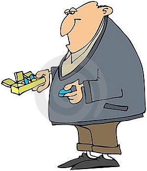 Man Taking His Pills Royalty Free Stock Photography - Image: 16526927