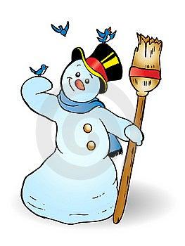 Happy Snowman Stock Photos - Image: 16527953