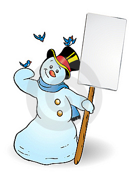 Snowman Banner Royalty Free Stock Photo - Image: 16527975