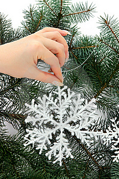 Hand With Snowflake Royalty Free Stock Images - Image: 16528289