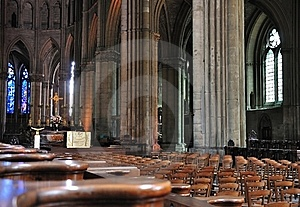Interior Of A Cathedral In Reims. Royalty Free Stock Photos - Image: 16531558