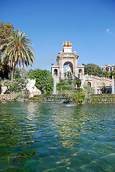 Fountain In Ciutadella Park Royalty Free Stock Photography - Image: 16532487