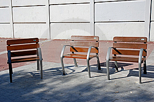 Benches In The Park Stock Photo - Image: 16532590