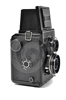 Old Middle-format Camera Stock Photo - Image: 16536520