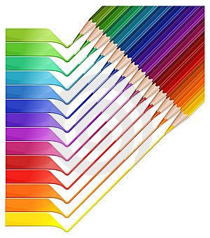 Pencil Rainbow Royalty Free Stock Images - Image: 16537139
