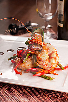 Delicatessen Dish With Seafoods Stock Photos - Image: 16537753