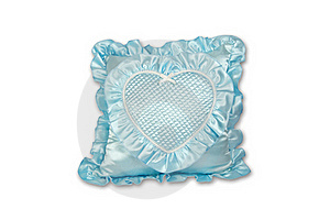 Blue Pillow Isolated Royalty Free Stock Images - Image: 16538209