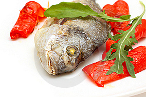 Roasted Fish With Garnish Stock Images - Image: 16538674