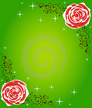 Bright Rose Frame Stock Image - Image: 16538991