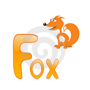Funny Alphabet Fox Royalty Free Stock Photos - Image: 16542708