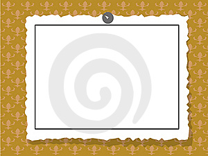 Sheet Of Paper On The Wall Stock Images - Image: 16543484