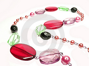 Red Purple Colored Beads Royalty Free Stock Photos - Image: 16544268