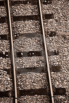 Train Track Royalty Free Stock Images - Image: 16545669
