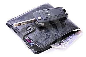 Wallet And Car Key Stock Image - Image: 16546701
