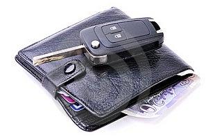 Wallet And Car Key Stock Image - Image: 16546701
