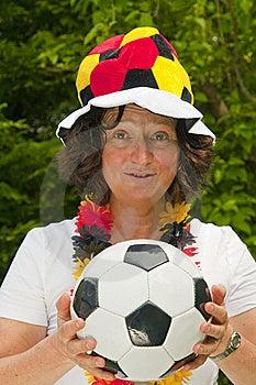 Female Soccer Fan Stock Image - Image: 16547121