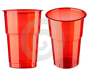 Two Plastic Glasses Royalty Free Stock Photos - Image: 16547528