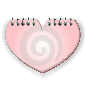 Notebook In S Shape Of Heart Stock Photo - Image: 16548070