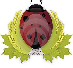 Laurel Wreath LadyBird Royalty Free Stock Photography - Image: 16550747
