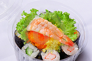 Sushi In Picnic Pack Stock Image - Image: 16552661