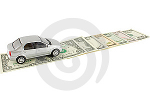 L'automobile Et Les Dollars Image stock - Image: 16554201