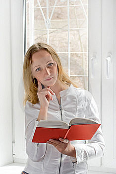 The Girl With The Book Royalty Free Stock Images - Image: 16559479