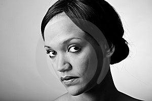 Monochrome Fashion Girl Stock Photography - Image: 16560792