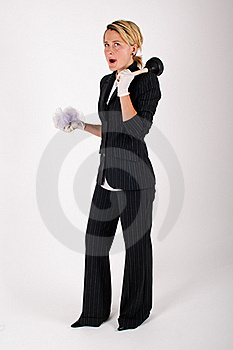 Business Woman Cleaning Stock Photography - Image: 16561782