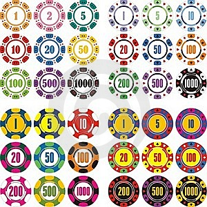 Casino Chips Set Stock Images - Image: 16564334