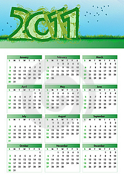 Environmentalism Calendar 2011 Stock Photography - Image: 16569662