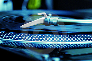 Turntable Playing Vinyl Record Royalty Free Stock Images - Image: 16570459