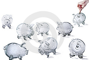 Glass Piggy Banks Royalty Free Stock Photo - Image: 16574425