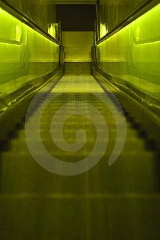 Green Escalator Royalty Free Stock Photo - Image: 16575405