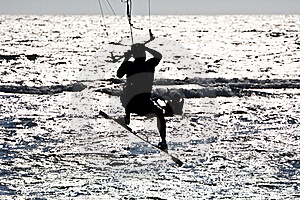 Kitesurfer  Silhouette Stock Photography - Image: 16581172