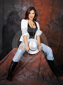 Girl With A Hat Royalty Free Stock Image - Image: 16581556