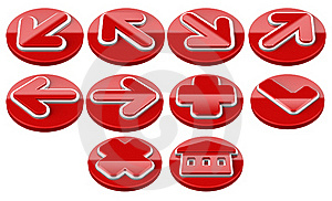 Red Arrow Sign Web 2.0 Internet Buttons. Stock Image - Image: 16582411