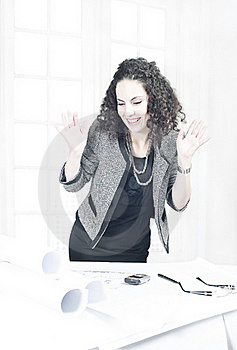 Happy Business Woman Royalty Free Stock Photo - Image: 16584345